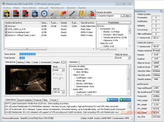 logiciel mediacoder gratuit