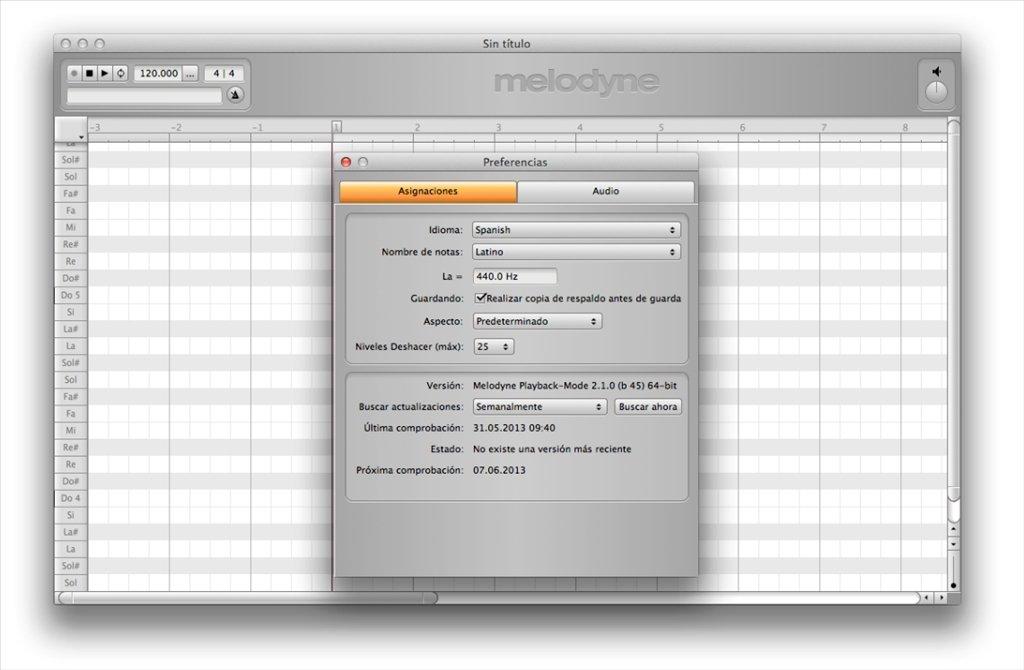 Descargar Melodyne (2.1.2 Editor) Mac - Gratis