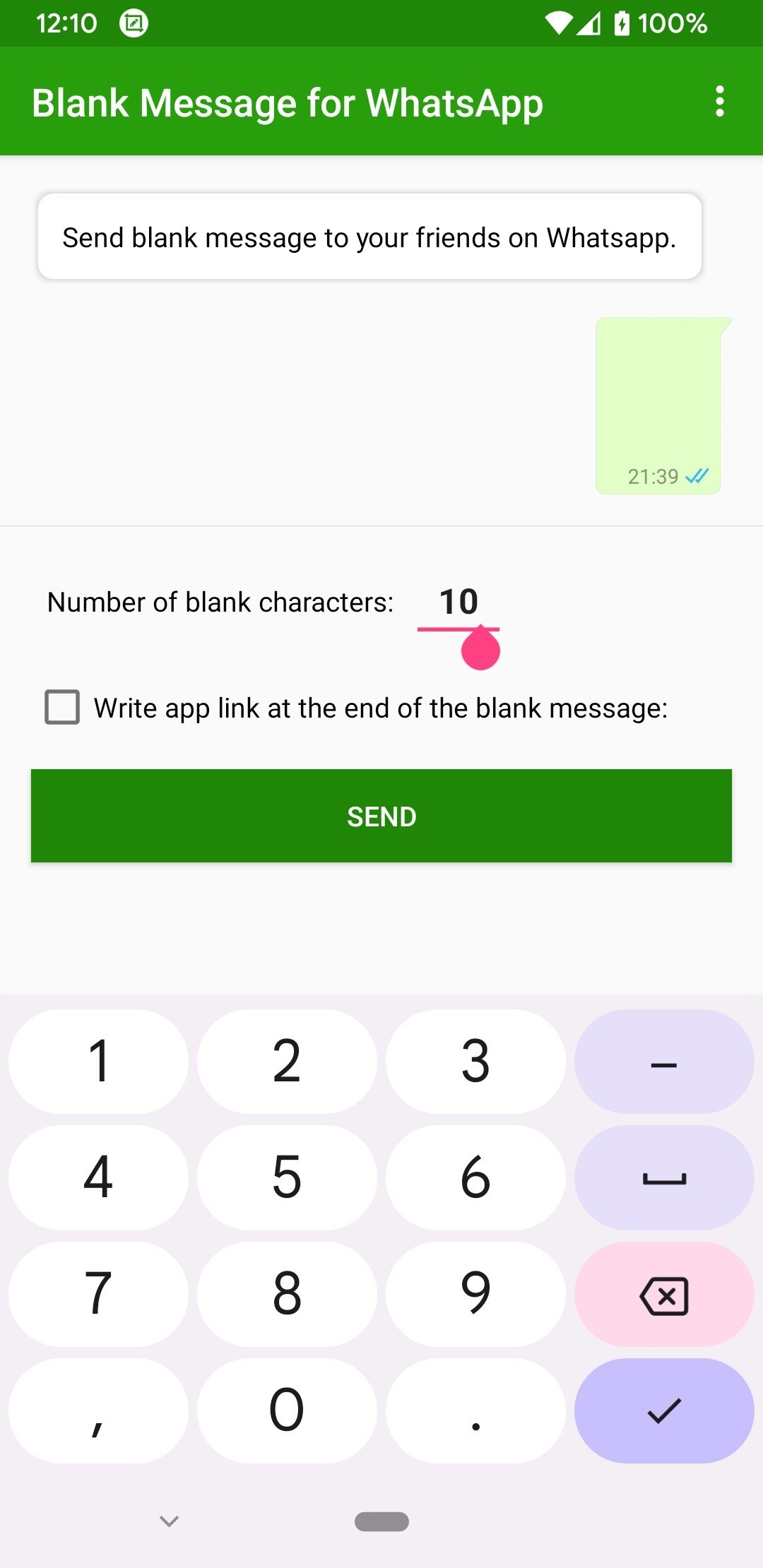 Download Blank Message for WhatsApp Android Apk For Android