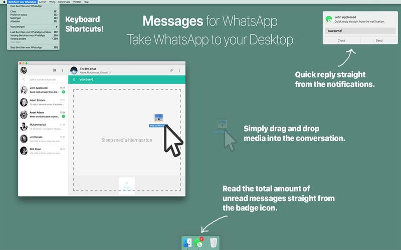 Messages for WhatsApp Mac image 2