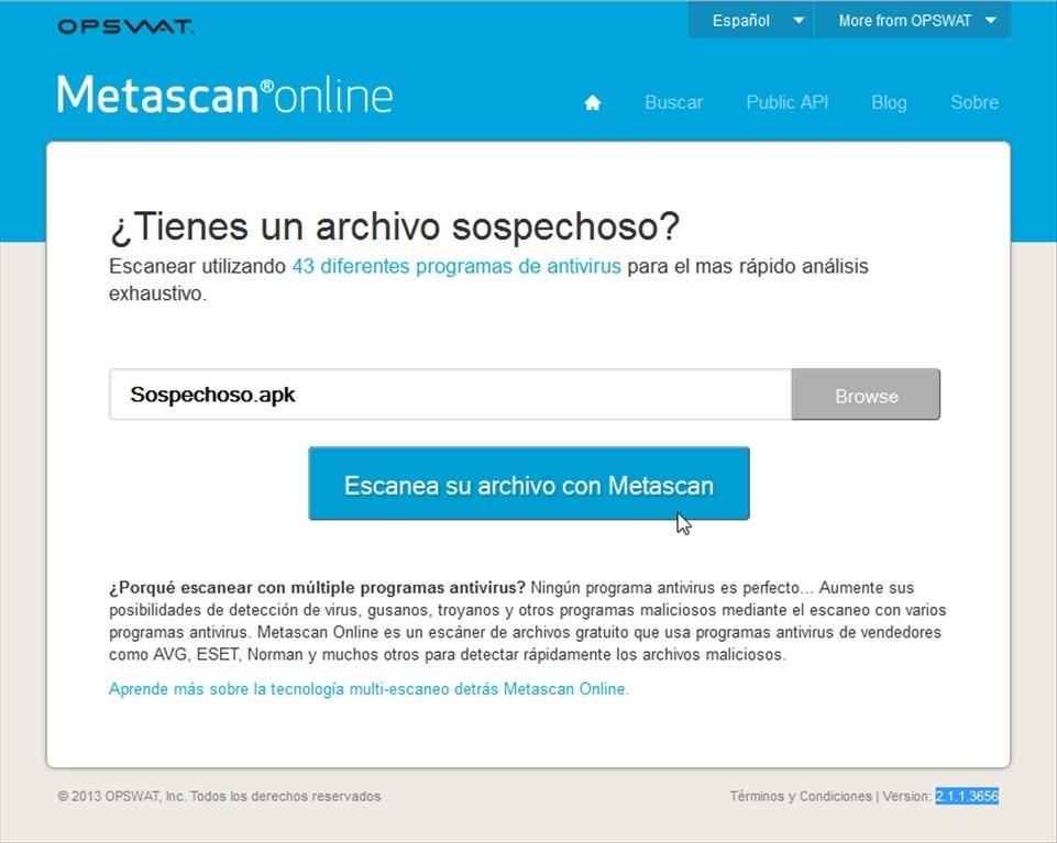 Metascan Webapps image 4