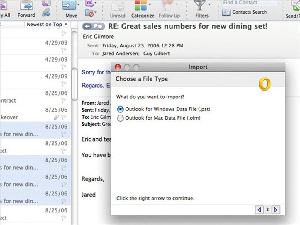 Microsoft Outlook Mac image 5