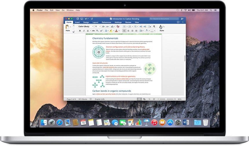 Microsoft Word Mac image 3