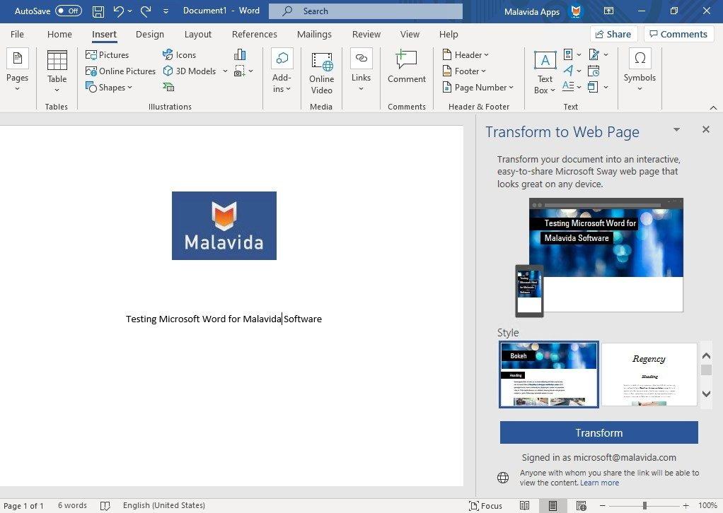 descargar microsoft office word gratis
