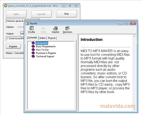 MIDI to MP3 Maker 3 12 - Download for PC Free