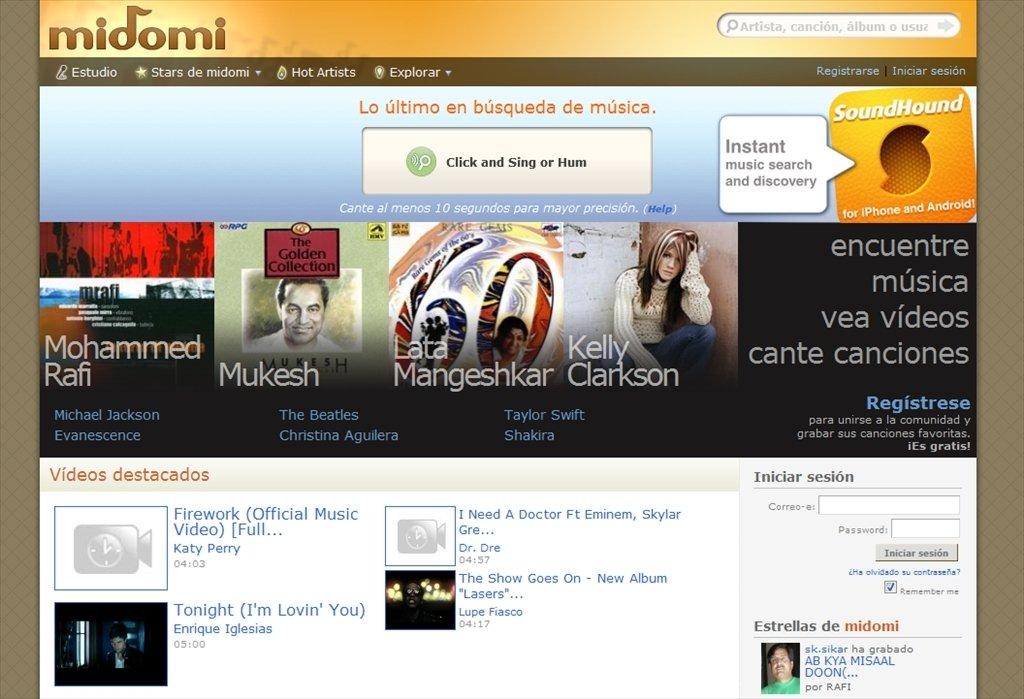Midomi Webapps image 4