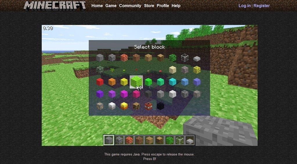Minecraft Classic Online (English) Free