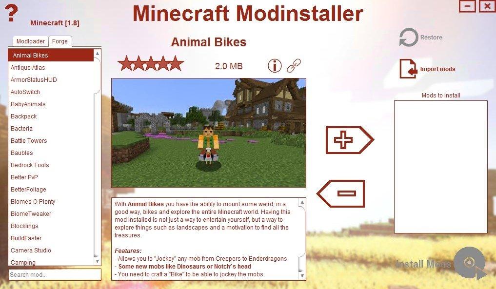 Minecraft Modinstaller 5 0 8 Download for PC Free