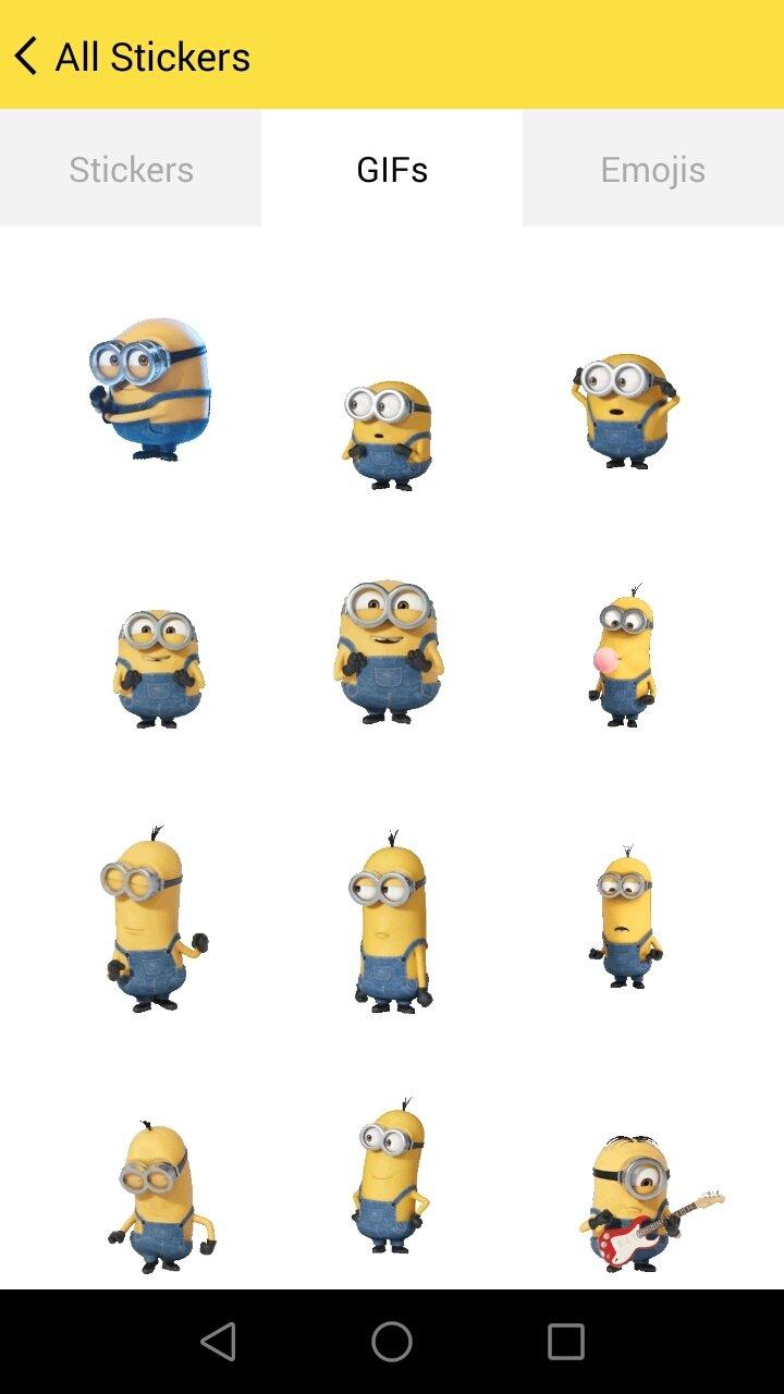 download minions emoji 3 6 android