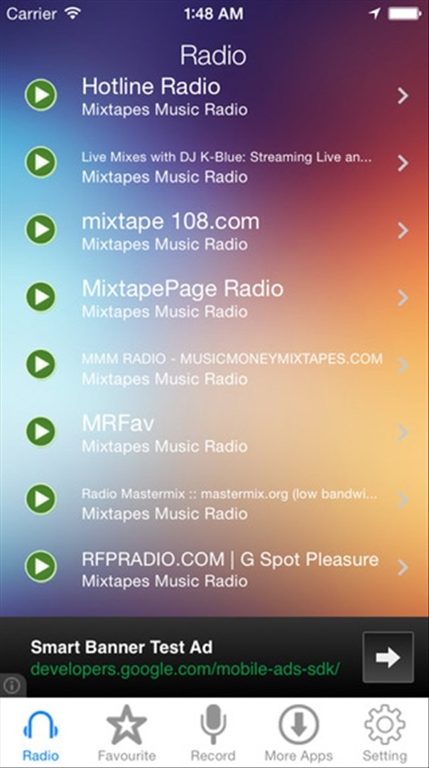 Mixtapes Music Radio Recorder iPhone image 4