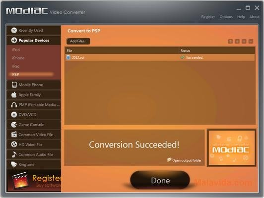 Modiac Video Converter image 6