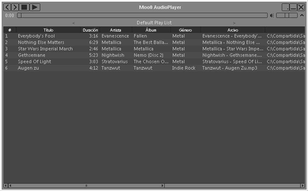 Moo0 AudioPlayer 1 58 - Download for PC Free