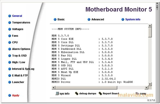 motherboard monitor 5.3.7.0