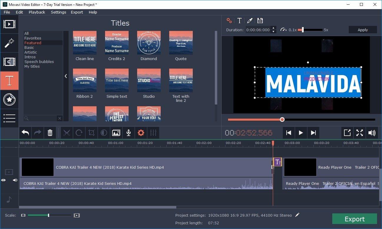 Éditeur vidéo intuitif et simple | Movavi Video Editor