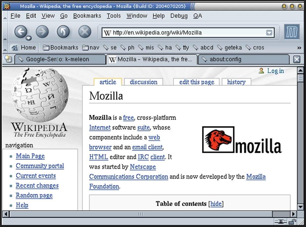 Mozilla Suite Linux image 2
