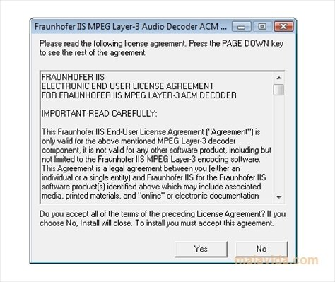 Fraunhofer mp3 codec download