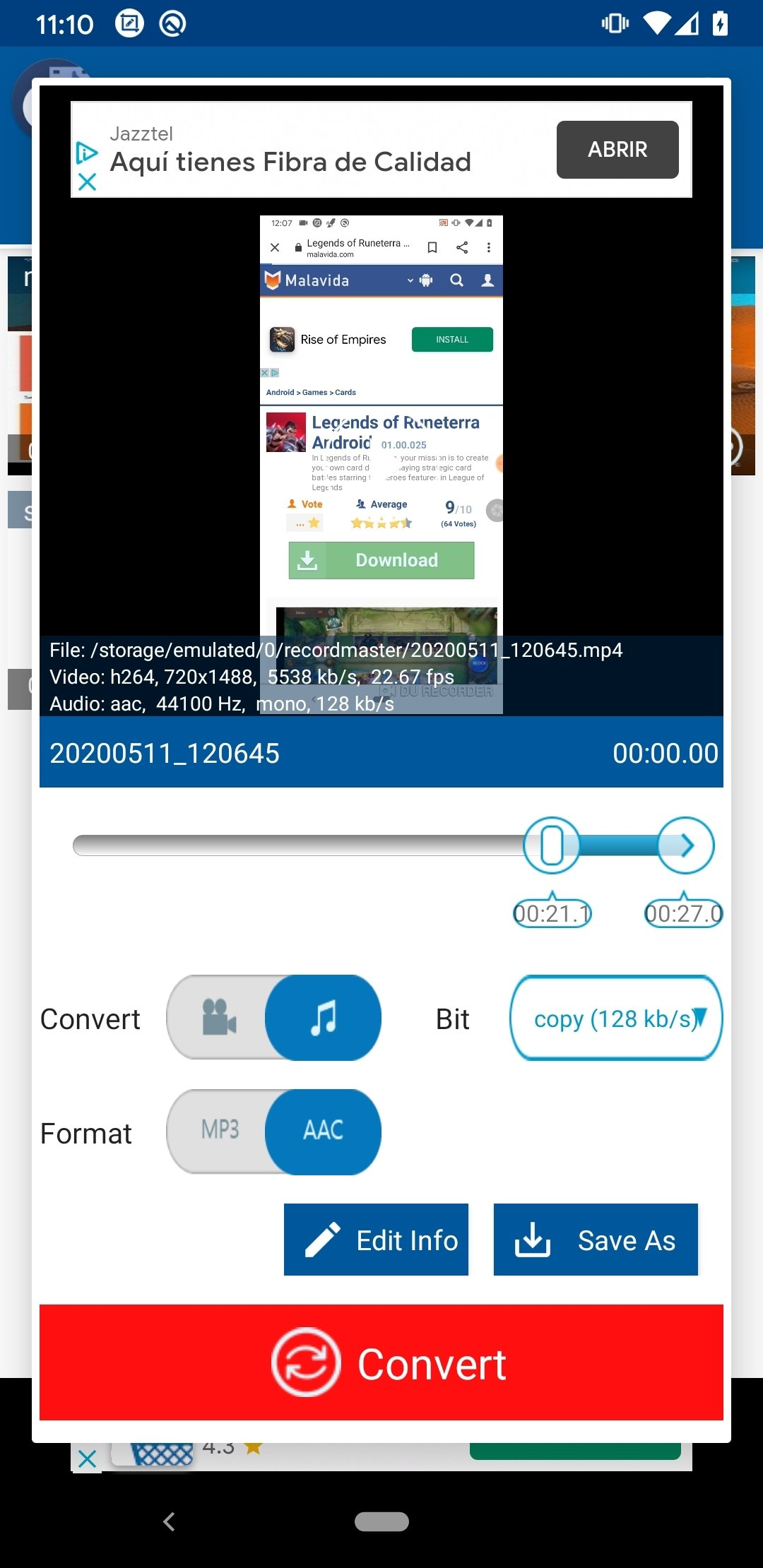 MP3 Video Converter Fundevs Android image 5
