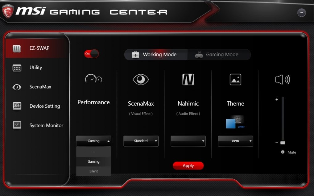 msi gaming osd app download