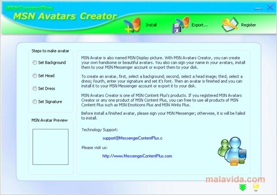 MSN Avatars Creator 1 0 - Download for PC Free