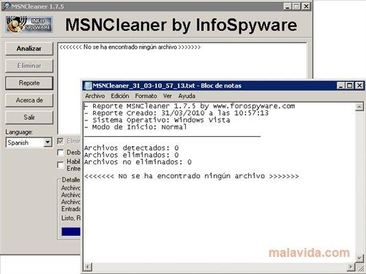 msncleaner para windows 7