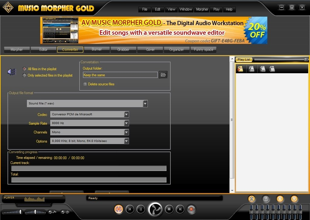 Music Morpher Gold 5 0 59 - Download for PC Free