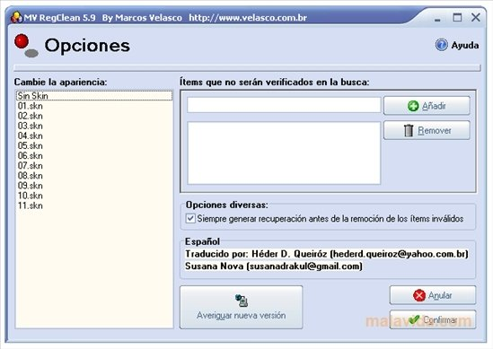 VELASCO DOWNLOAD GRATUITO REGCLEAN MARCOS MV