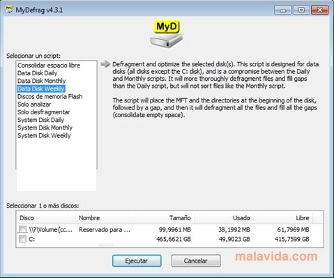 MyDefrag image 4