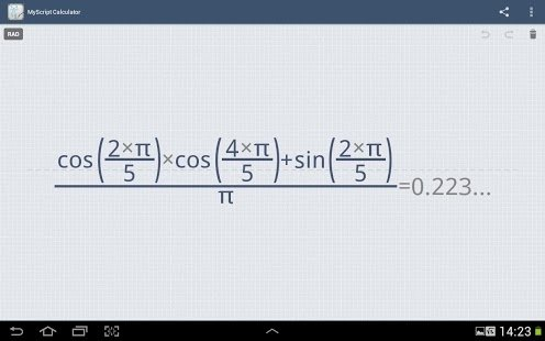MyScript Calculator Android image 5