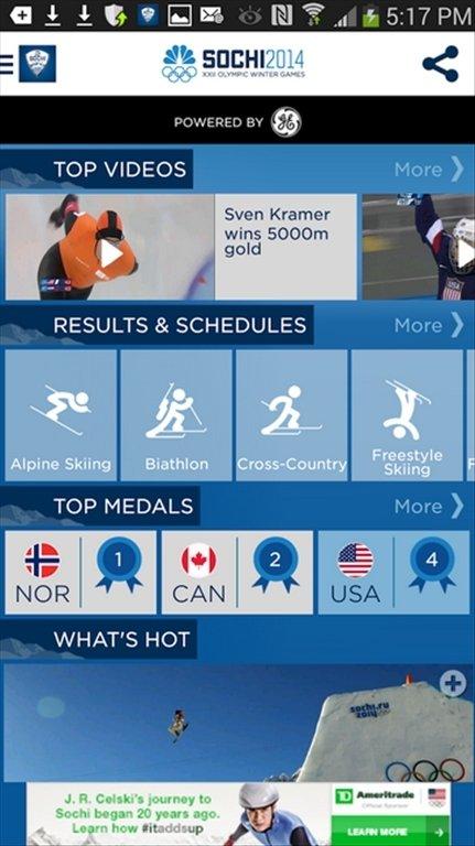 NBC Olympics Android image 6