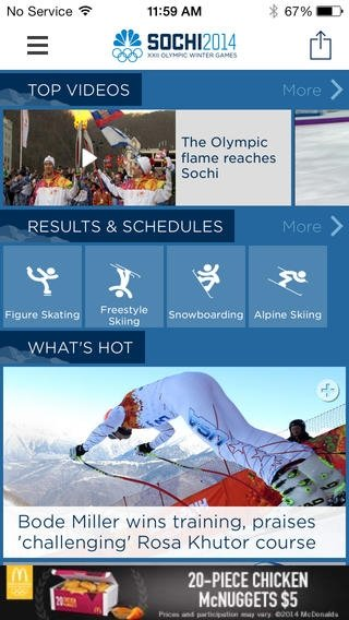NBC Olympics iPhone image 5