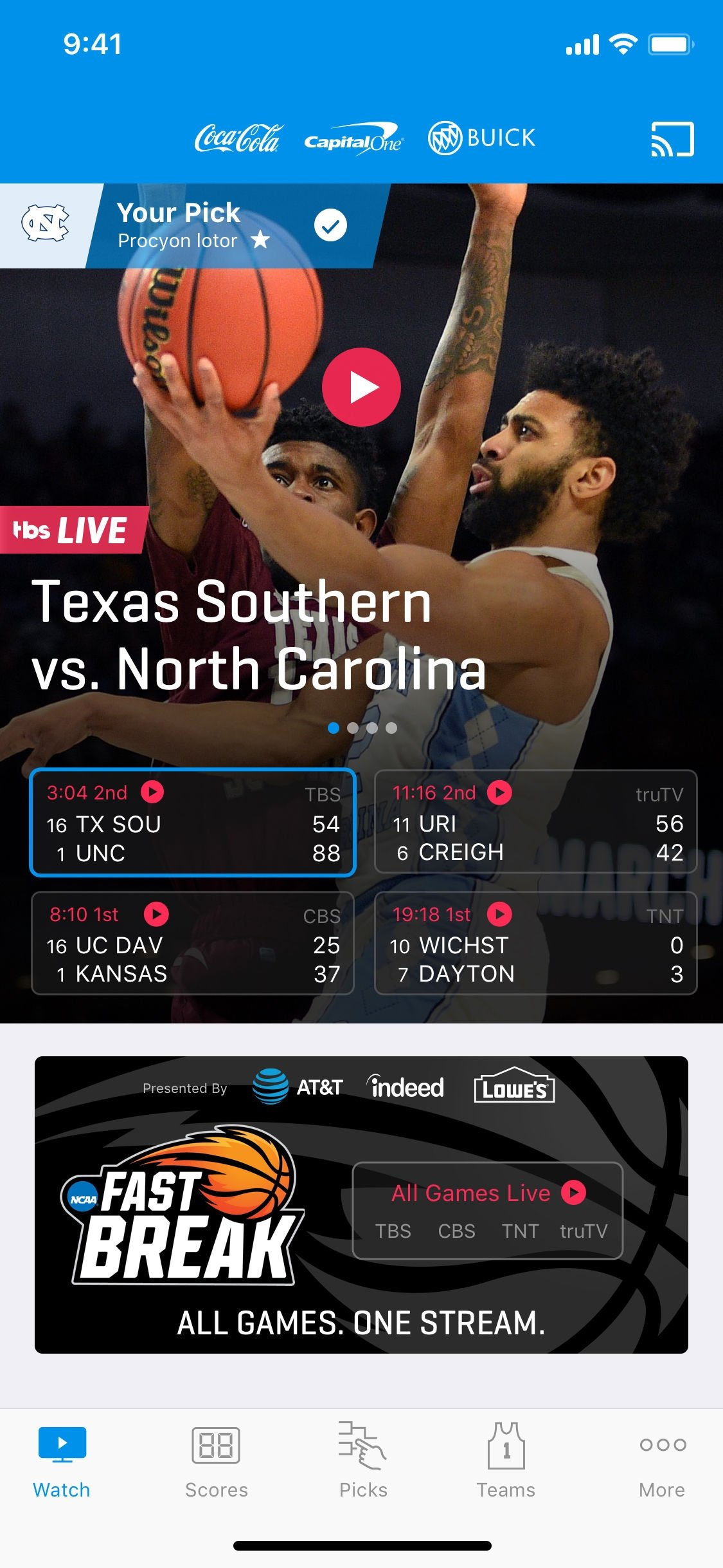 NCAA March Madness Live iPhone image 4