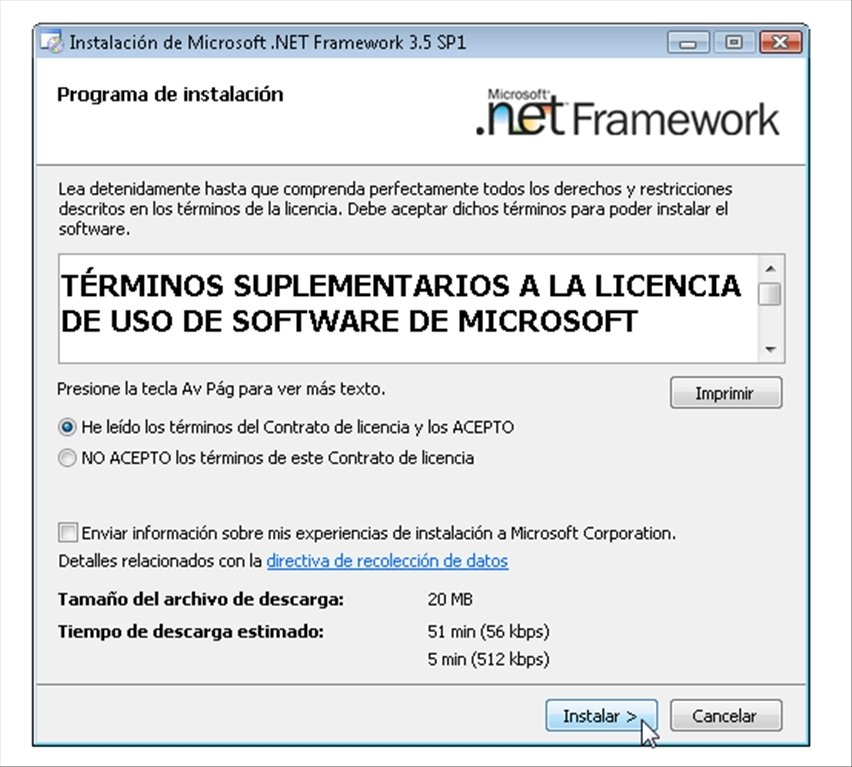net framework 3 5 free download for xp