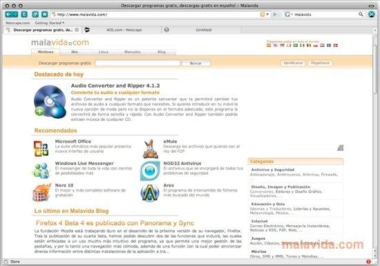 netscape navigator 9 download for mac