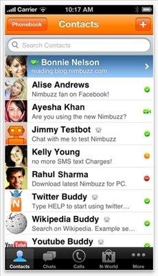 Nimbuzz iPhone image 5