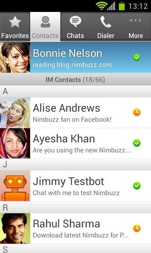 Nimbuzz Android image 6