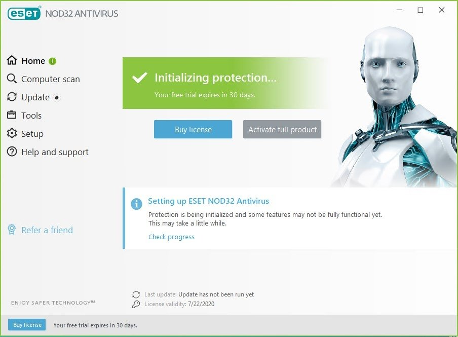 NOD32 Antivirus 9.0.318.20