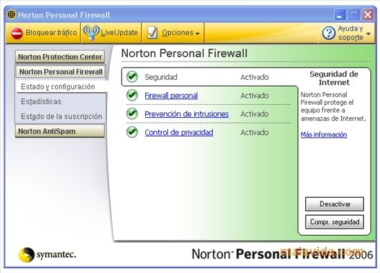 Norton personal firewall 2006 download for pc free.