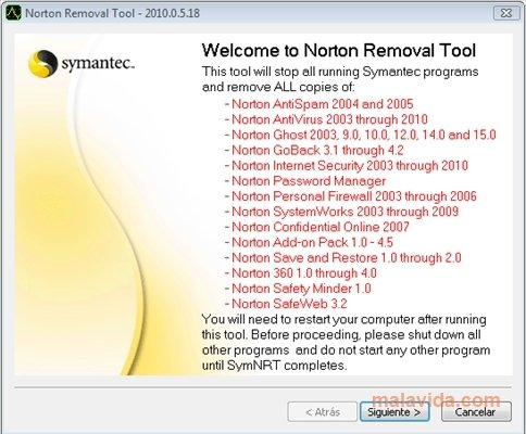 Norton Removal Tool image 4