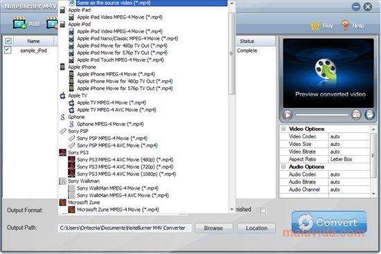 free m4v converter software