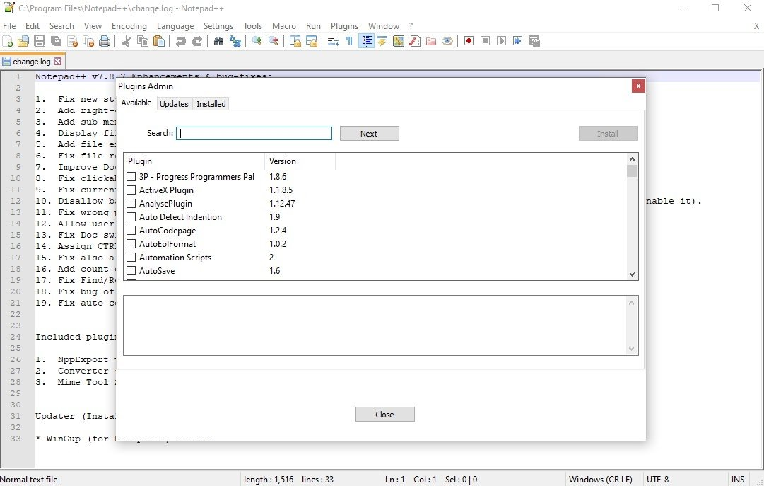 Notepad++ 7 7 1 - Download for PC Free
