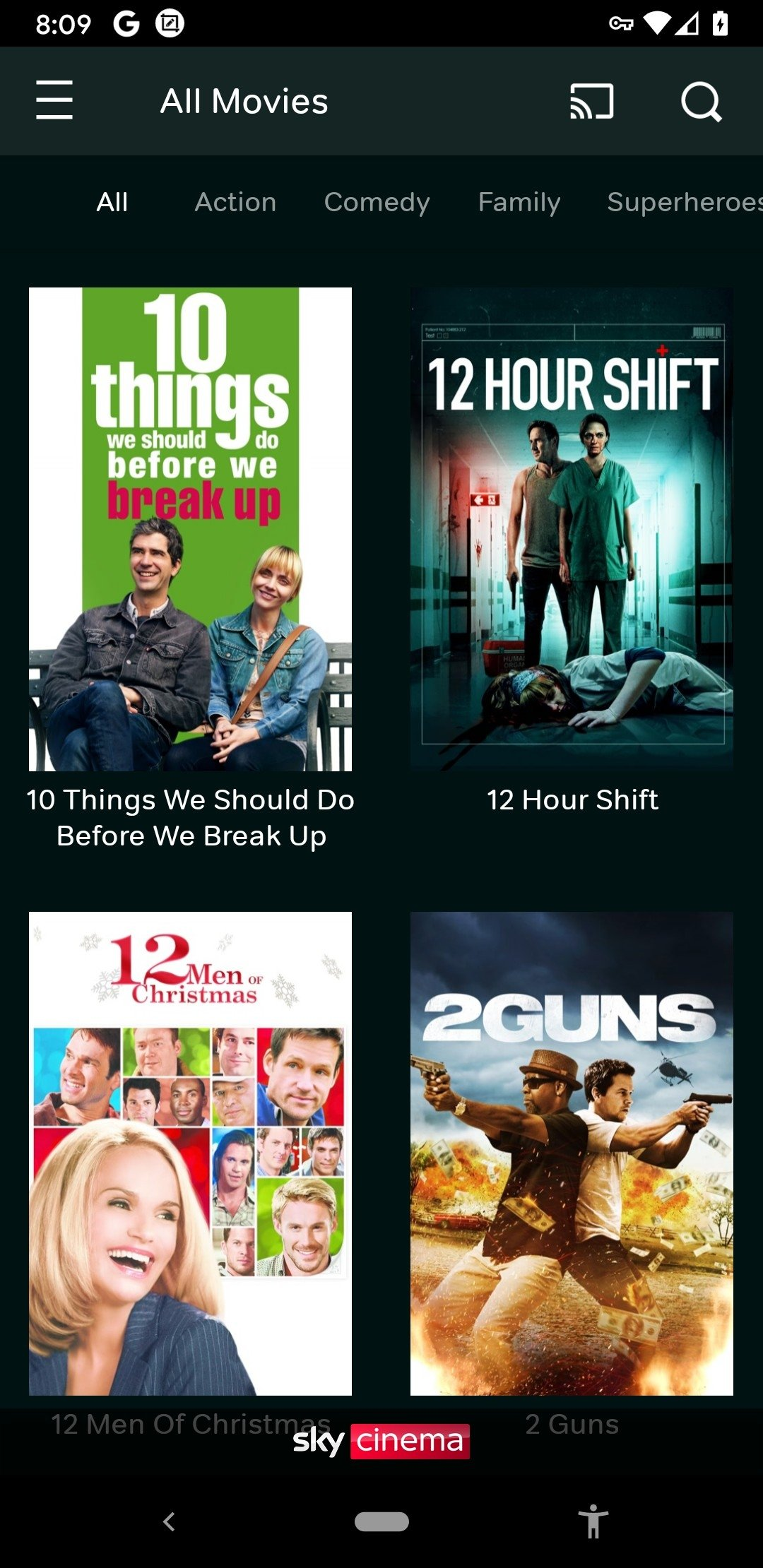 can you download movies on now tv app