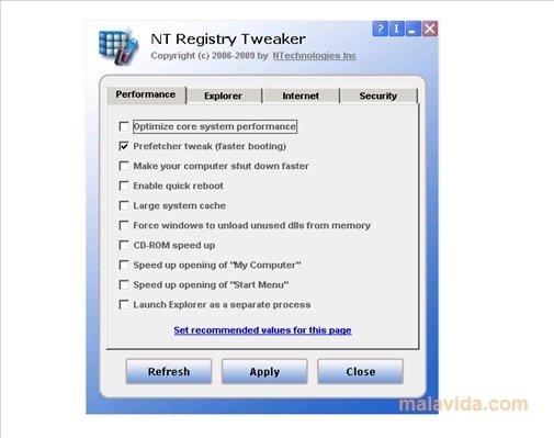 NT Registry Tweaker image 4
