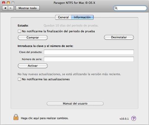 sistema de archivos ntfs mac