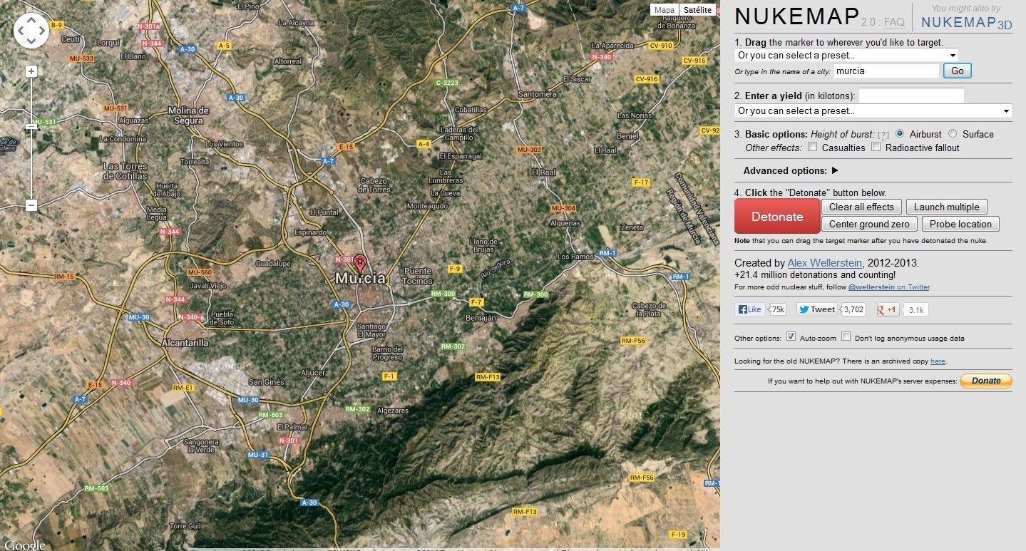 Nukemap Webapps image 3