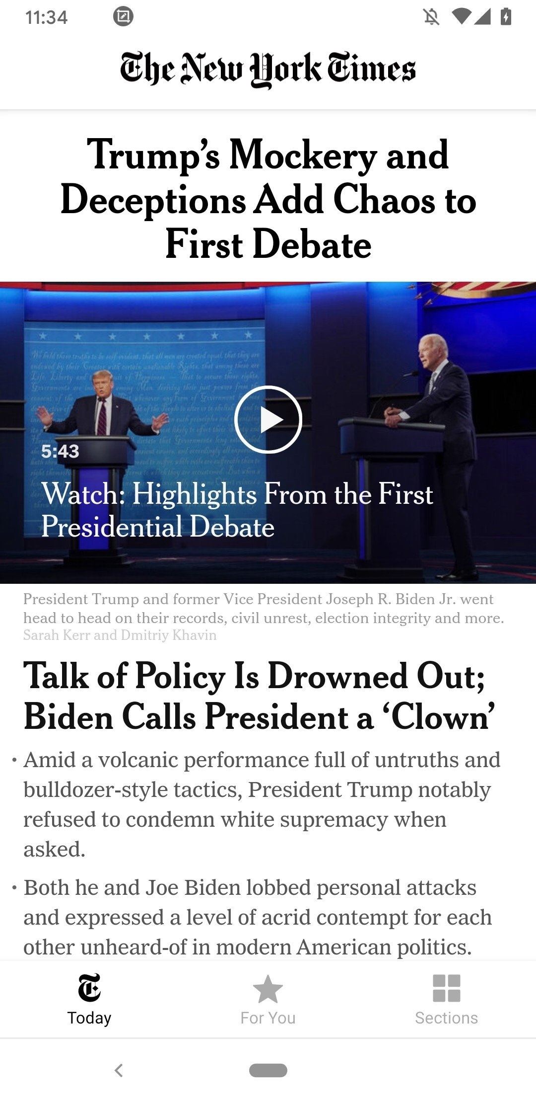 NYTimes Android image 5