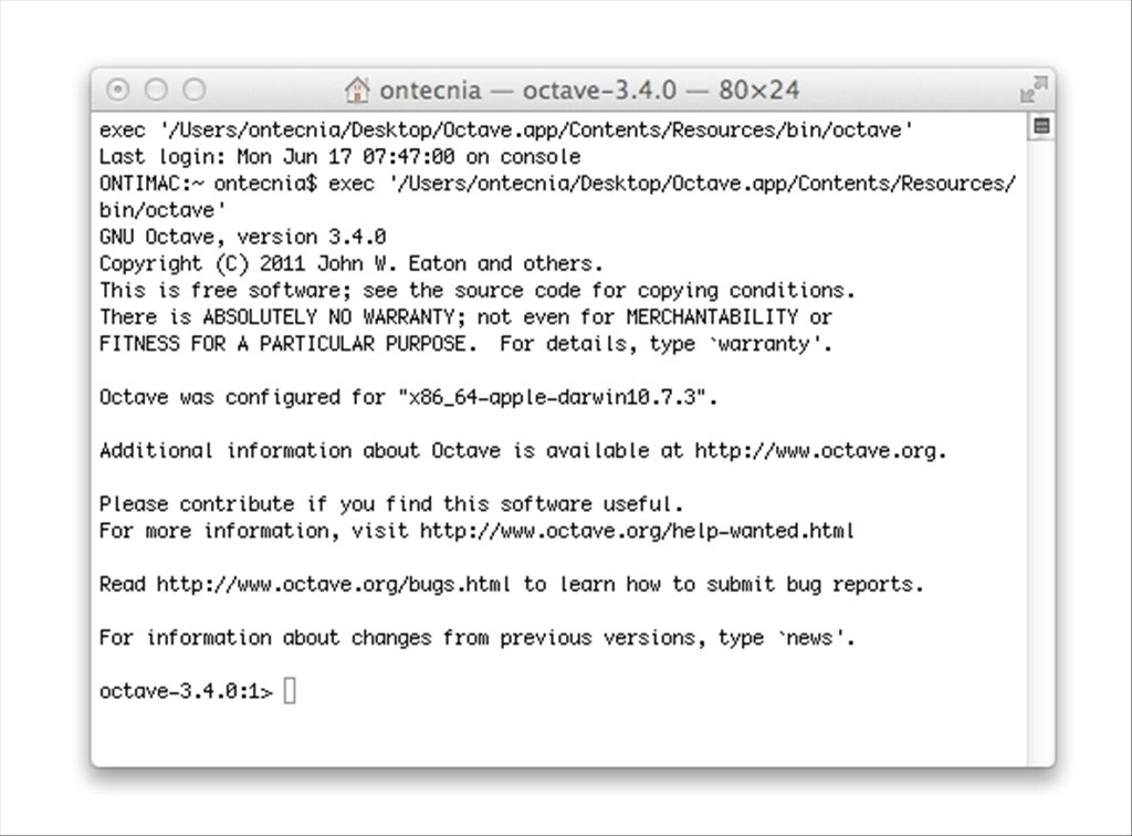 Octave Forge Mac image 3