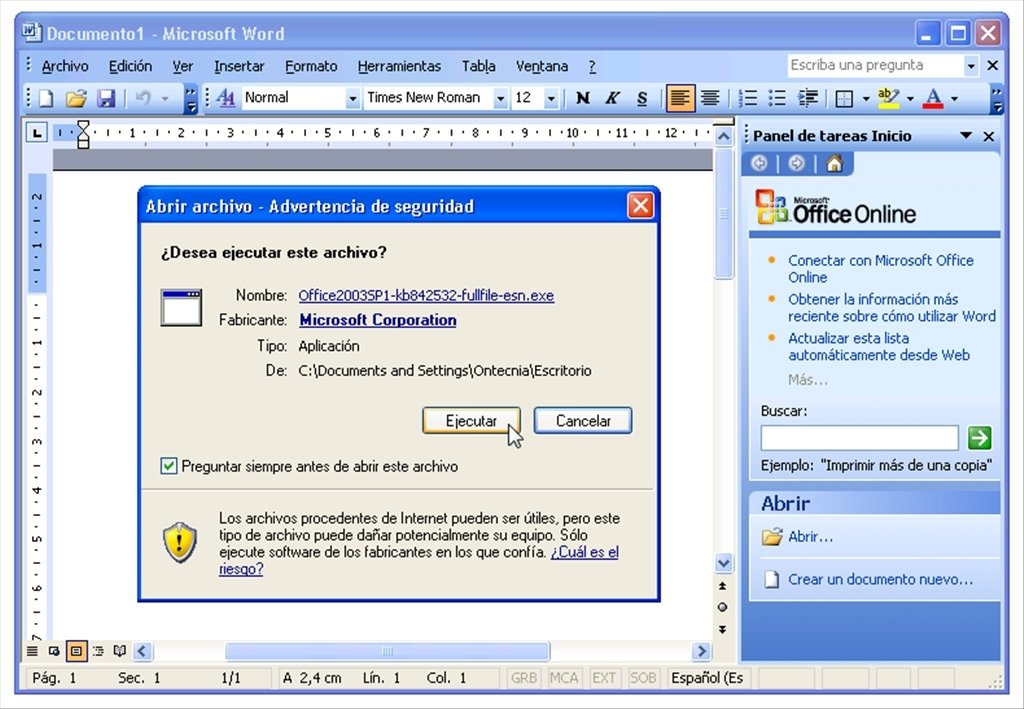 Download Office 2003 SP1 free