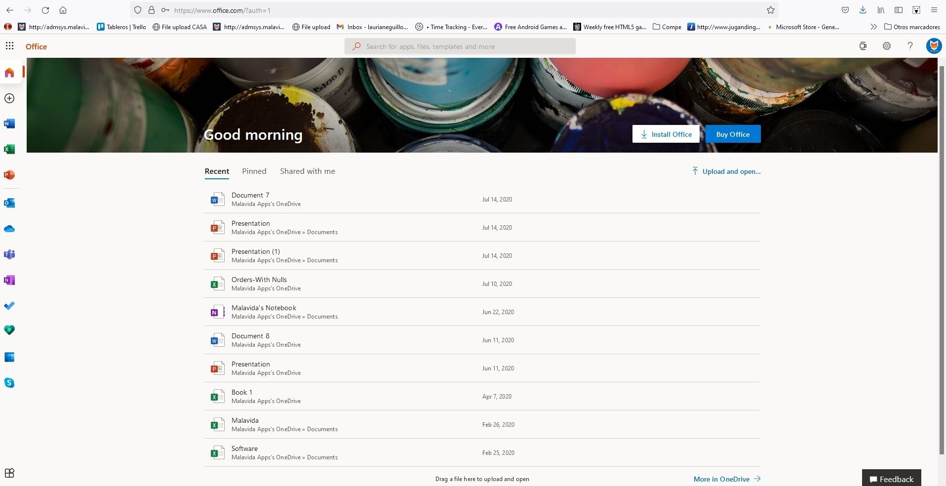 Online microsoft office