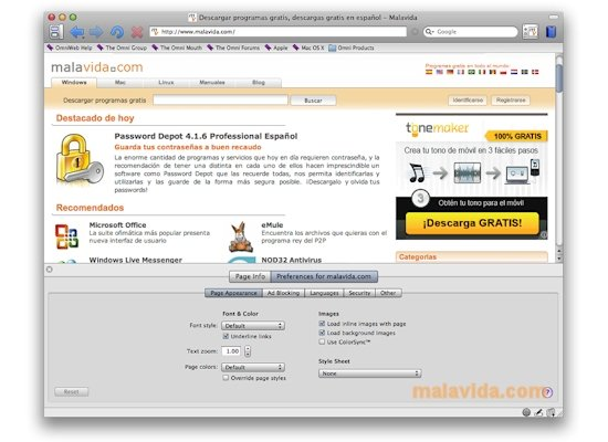 OmniWeb Mac image 6