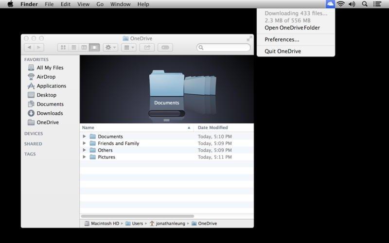 OneDrive Mac image 5